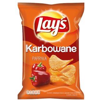 Lay's Karbowane o smaku Papryka Chipsy ziemniaczane 150 g