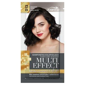 Joanna Multi Effect color Szamponetka koloryzująca hebanowa czerń 013 35 g