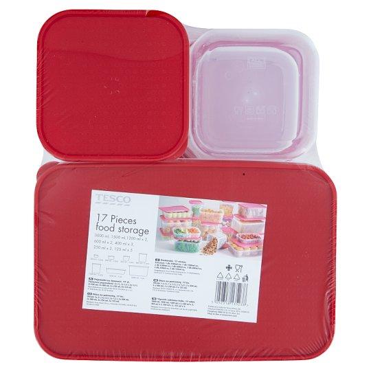Tesco Pojemniki na żywność 17 elementów