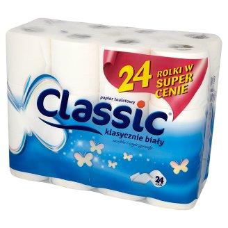 Classic klasycznie biały Toilet Paper 24 Rolls