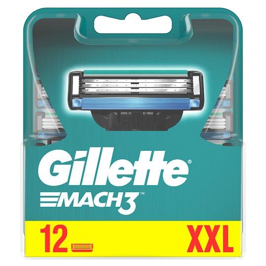 Gillette Mach3 Ostrza wymienne do maszynki, 12 sztuki