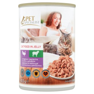 Tesco Pet Specialist Turkey and Lamb in Jelly Food for Adult Cats 415 g