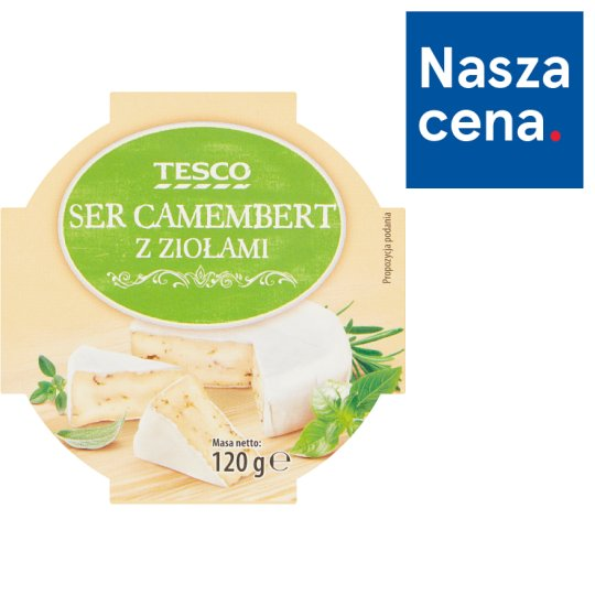 Tesco Camembert Cheese with Herbs 120 g