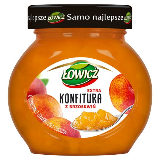 Łowicz Low Sugar Peach Extra Jam 240 g