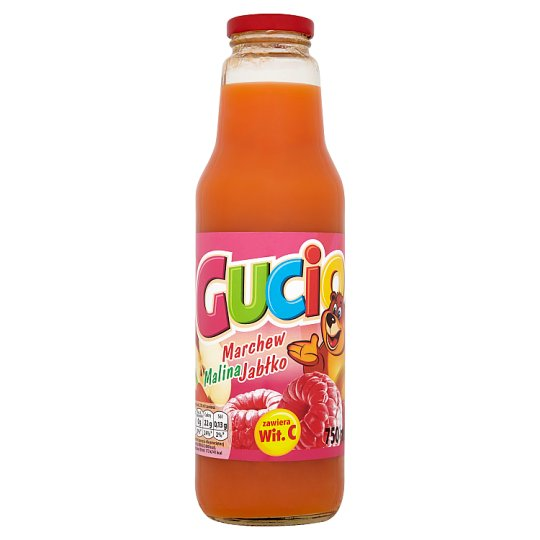 Gucio Carrot Raspberry and Apple Juice Enriched with vitamin C 750 ml