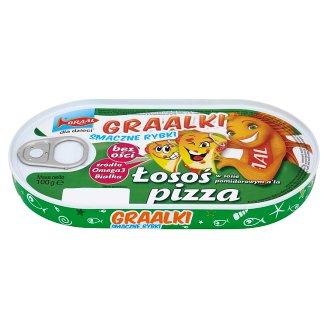 GRAAL Graalki Smaczne rybki Salmon in Tomato Sauce a'la Pizza 100 g