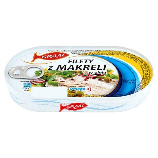 GRAAL Mackerel Fillets in Oil 170 g