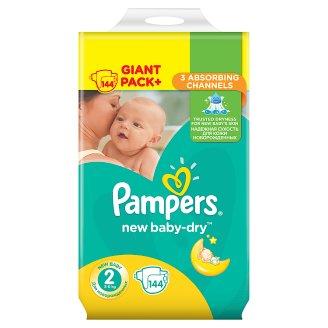 Pampers New Baby-Dry rozmiar 2 (Mini), 144 pieluszki