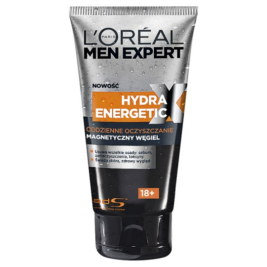 L'Oreal Paris Men Expert Expert Hydra Energetic X 18+ Daily Cleaning Magnetic Carbon 150 ml