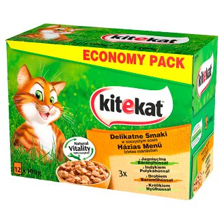Kitekat Delicate Cat Food in Sauce Complete Food 12 x 100 g