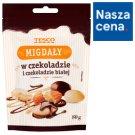 Tesco Migdały w czekoladzie i czekoladzie białej 80 g