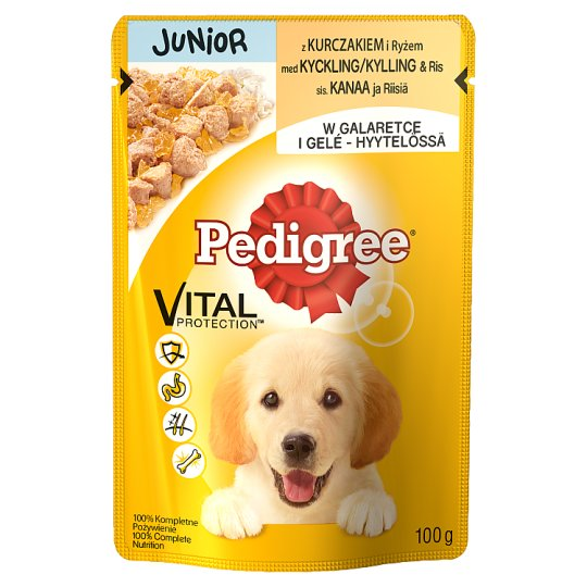 Pedigree Vital Protection Junior Complete Dog Food with Chicken and Rice in Jelly 100 g