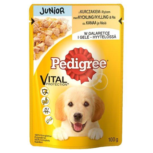 Pedigree Vital Protection Junior Karma pełnoporcjowa z kurczakiem i ryżem w galaretce 100 g