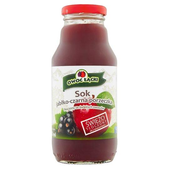 Owoc Łącki Apple Black Currant Juice 330 ml