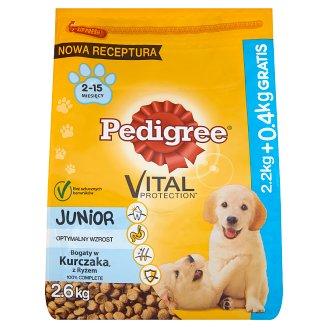 Pedigree Vital Protection Junior Bogaty w kurczaka z ryżem Karma pełnoporcjowa 2,6 kg