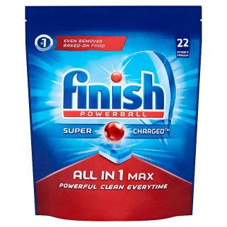 Finish Powerball All in 1 Max Dishwasher Detergent in Tabs 358.6 g (22 Pieces)