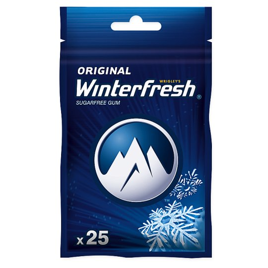 Winterfresh Original Sugarfree Chewing Gum 35 g (25 Pieces)