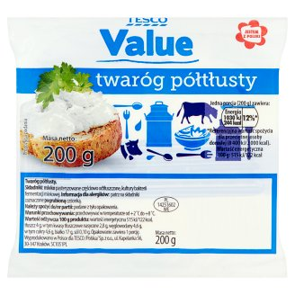 Tesco Value Half Fat Cottage Cheese 200 g