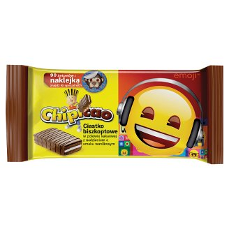 Chipicao Covered Cake Bar with Chocolate Flavoured Coating and Vanilla Flavour Filling 64 g