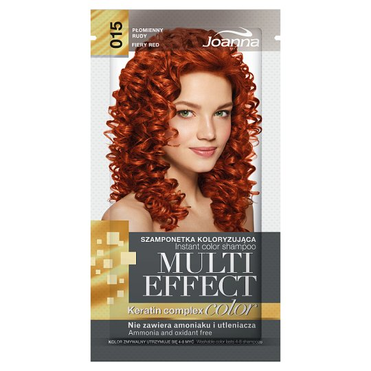 Joanna Multi Effect color Instant Color Shampoo Fiery Red 015 35 g