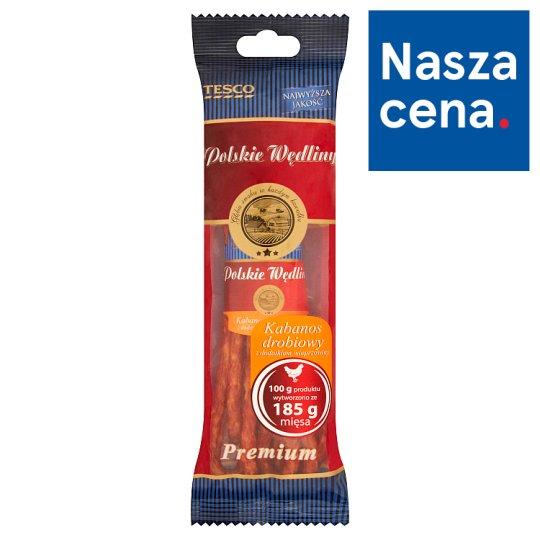 Tesco Polskie Wędliny Kabanos drobiowy z dodatkiem wieprzowiny premium 120 g