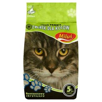 Miluś Żwirek dla kotów zapach trawy 5 l