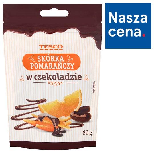 Tesco Skórka pomarańczy w czekoladzie 80 g
