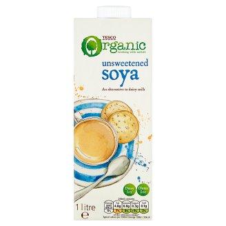 Tesco Organic Napój sojowy niesłodzony 1 l