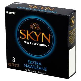 Unimil Skyn Ekstra nawilżane Nielateksowe prezerwatywy 3 sztuki
