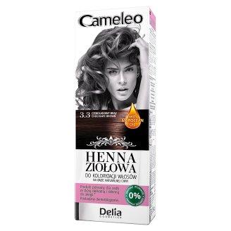 Delia Cosmetics Cameleo Coloring Hair Herbal Henna 3.3 Chocolate Brown 75 g