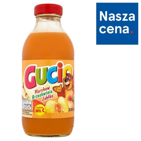 Gucio Sok z marchwi brzoskwiń jabłek wzbogacony witaminą C 330 ml