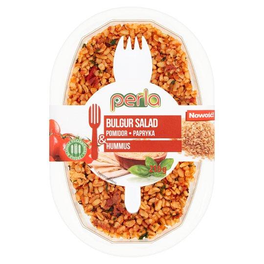 Perla Sałatka z kaszy bulgur pomidor papryka & hummus 210 g