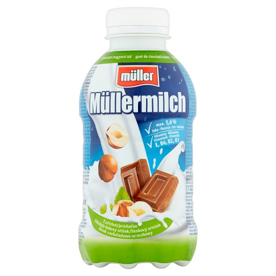 Müller Müllermilch Chocolate and Nut Flavoured Milk Drink 377 ml