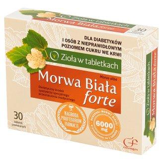Colfarm Zioła w tabletkach Morwa Biała forte Dietetyczny środek spożywczy 30 tabletek