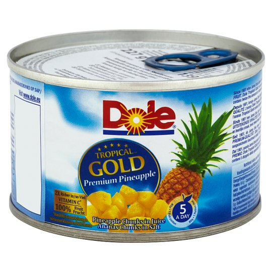 Dole Tropical Gold Pineapple Chunks in Juice 227 g