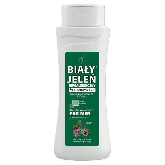 Biały Jeleń for Men Hipoalergiczny żel & szampon 2 w 1 łopian 300 ml