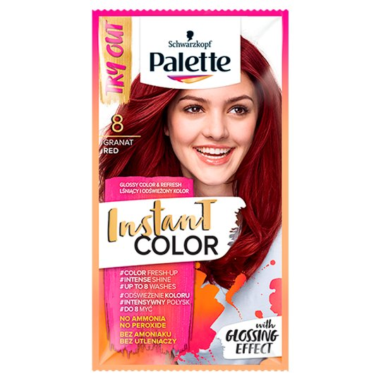 Palette Instant Color Coloring Shampoo Granat Red 8 25 ml