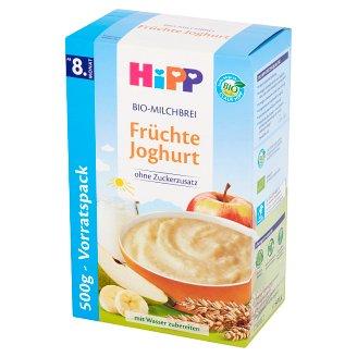 HiPP BIO Kaszka mleczno-zbożowa Owoce-jogurt od 8. miesiąca 500 g (2 sztuki)