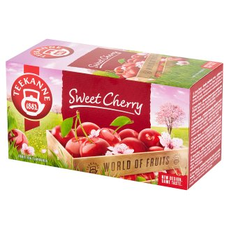 Teekanne World of Fruits Sweet Cherry Fruits Tea Flavoured 50 g (20 Tea Bags)