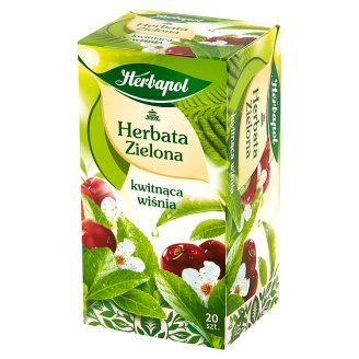 Herbapol Green Tea with Cherry Fruit Flavoured 34 g (20 x 1.7 g)
