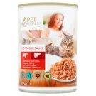 Tesco Pet Specialist Karma dla dorosłych kotów kawałki z wołowiną i wątróbką w sosie 415 g