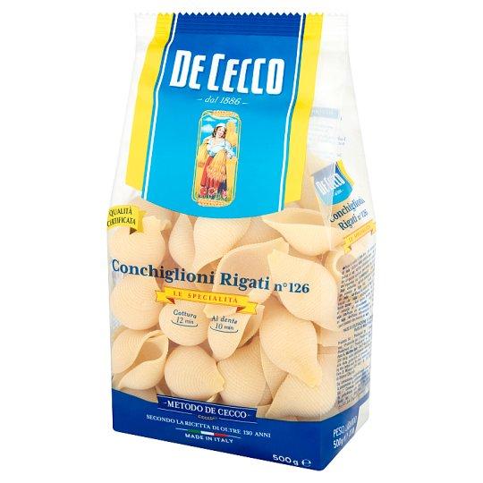 De Cecco Conchiglioni Rigati No 126 Durum Wheat Pasta 500 g