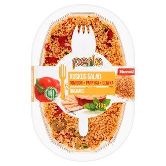 Perla Sałatka z kaszy kuskus pomidor papryka oliwka & hummus 210 g