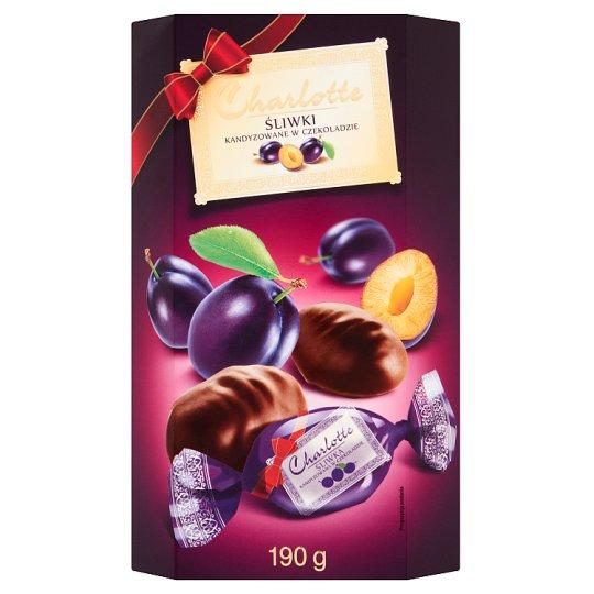 Charlotte Śliwki kandyzowane w czekoladzie 190 g