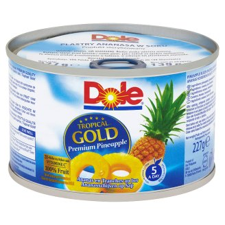Dole Tropical Gold Pineapple Slices in Juice 227 g