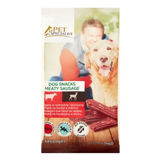 Tesco Pet Specialist Supplementary Food for Adult Dogs Meaty Sausage Beef & Venison 70 g (4 Pieces)