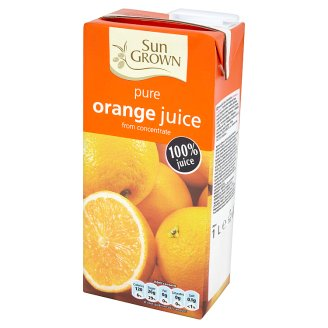 Sun Grown Pure Orange Juice from Concentrate 1 L