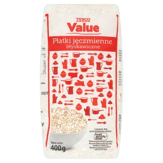 Tesco Value Instant Barley Flakes 400 g
