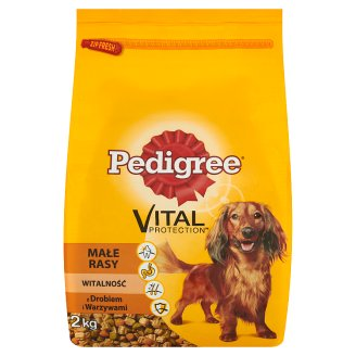Pedigree Vital Protection Complete Food For Small Breeds Dogs with Poultry and Vegetables 2 kg