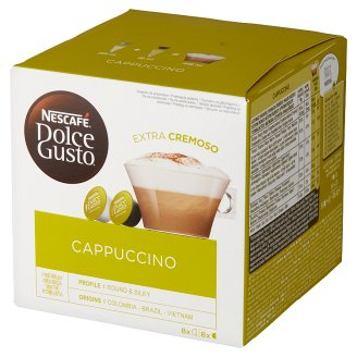 Nescafé Dolce Gusto Cappuccino Coffee and Milk in Capsules 186.4 g (8 x 17 g and 8 x 6.3 g)